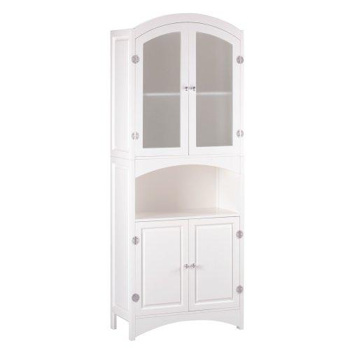 Wood Linen Cabinet (Tall Linen Closet)