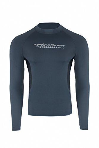 (WindRider Men's Rash Guard Swim Shirt - Long Sleeve UPF 50+ Performance)