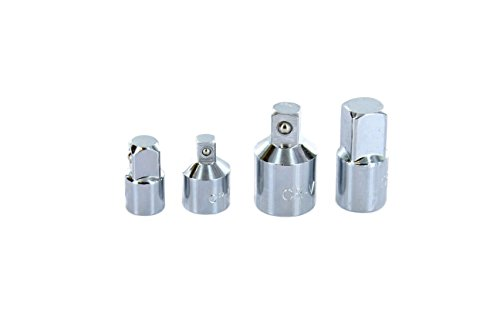 ABN Socket Reducer Adapters Impact Cheater 4pc Set - 3/8 to 1/2 Adapter, 1/4 to 3/8 Adapter, 1/2x3/8 & 3/8x1/4 Reducers
