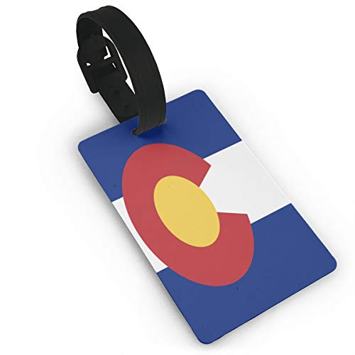 Cruise Luggage Bag Tags Travel Suitcases Tags Resealable Bag Tags With Adjustable Wrist Strap Baggage Name Tags - Flag Of Colorado Suitcase Labels Privacy Tag (Best Privacy Trees Colorado)
