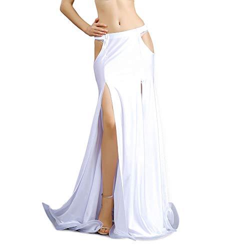 ROYAL SMEELA Belly Dance Costume for Women Belly Dancing Skirts Maxi Fishtail Mermaid Skirt Dress Bellydance Dancer Outfit White Belly Dance Mermaid Skirt