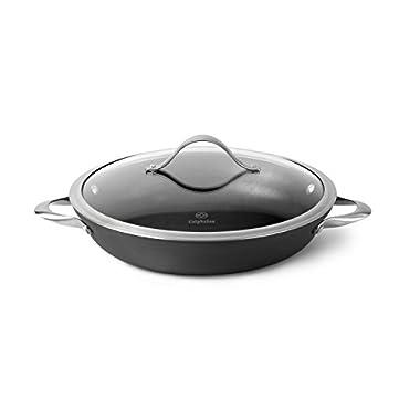 Calphalon Contemporary Hard-Anodized Aluminum Nonstick Cookware, Everyday Pan, 12-inch, Black
