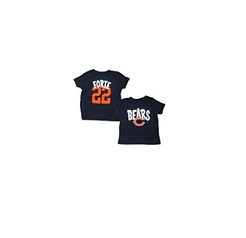 Outerstuff Matt Forte Chicago Bears Baby/Infant Whirlwind Name and Number T-Shirt 24 - Forte Bears Matt