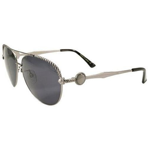 FLY GIRLS FLY CALIBER SUNGLASSES ANTIQUE SILVER/SMOKE LENS