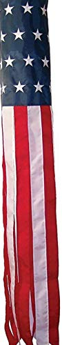White Cap Flagpole Socket - Kaputar 60 Embroidered U.S. USA American Flag WindSock Fast USA Shipping | Model FLG - 6212