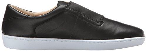 Nine West Rumba Leather Fashion Sneaker Black/Black