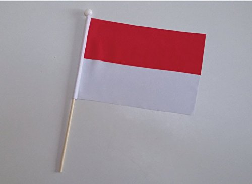 23cm x 15cm Monaco Hand Flag 9 x 6 12 Pack