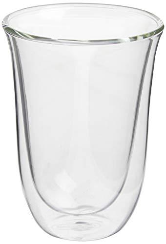 DeLonghi-Juego-de-2-vasos-premium-para-cafe-latte-macchiato-apto-para-lavavajillas-pared-doble-vidrio-templado-transparente-220-ml