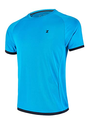 ZITY Sportswear Men's 100% Polyester Moisture-Wicking Short-Sleeve T-Shirt XX-Large Blue