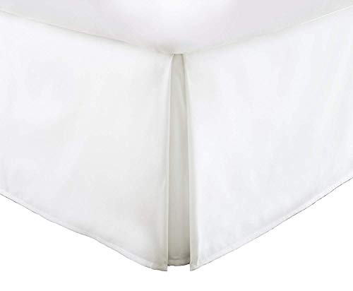 King Bed Skirt 16 Inch Drop Split Corner 100% Egyptian Cotton Luxury- 600 Thread Count Tailored 1 PC Bed Skirt King 76X80 Size White 16 Inch Drop/Fall Easy to Wash Wrinkle & Fade Resistance