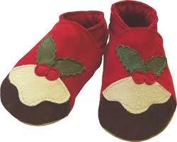 Daisy Roots Chaussures de Pudding de Noël en cuir souple (Taille 0–6mois)