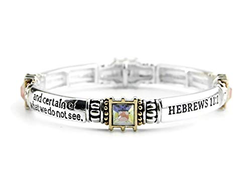 4030667 Hebrews 11:1 Scripture Stretch Bracelet Now Faith Is The Assurance of Things Hoped For Heb. 11 (Christianity Truth And Weakening Faith A Dialogue)
