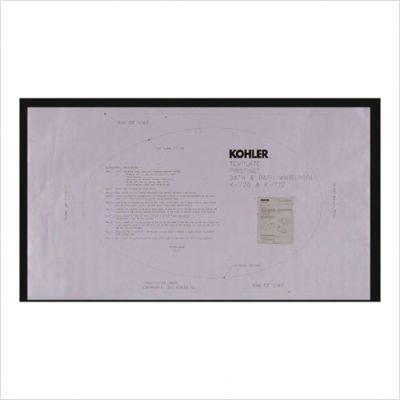 KOHLER K-583-NA Pristine Undermount Installation Kit for Use with Pristine Bath and Whirlpool