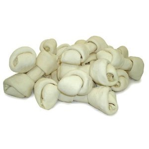 HDP Premium Natural Rawhide Bone 4-5″ Pack of 50