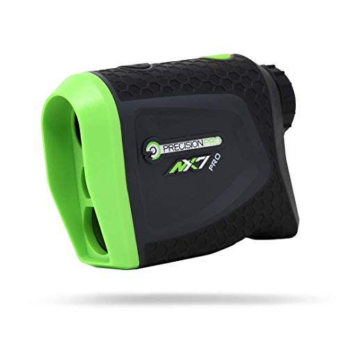 Precision Pro Golf, NX7 Pro Slope Golf Rangefinder, Laser Golf Rangefinder with Pulse Vibration, 400 Yard Range, 6X Magnification, Lifetime Battery -