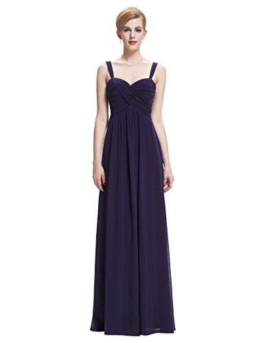 Belle Poque® Vestido Largo de Fiesta para Boda Vestido de Gala sin Mangas de Ceremonia para Mujer Maxi Morado(ST65-5)