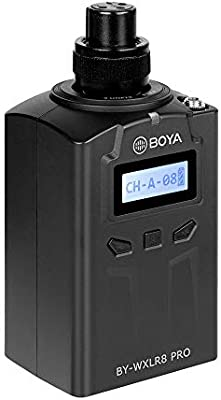 BOYA by-WXLR8 Pro 48-Channel Plug-on Transmitter LCD Display XLR Connection Compatiable with BOYA by-WM8 //by-WM6 Receiver Andoer Cleaning Cloth