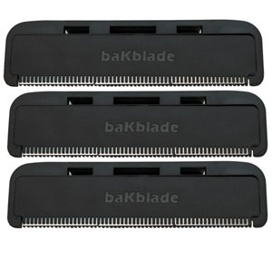 """BaKblade 1.0 """"Bigmouth"""" Back Hair & Body Shaver Refill Replacement Cartridges. 4"""" Extra-Wide Wet or Dry Disposable Razor Blades (3 Razors Included) by baKblade (Image #4)"""