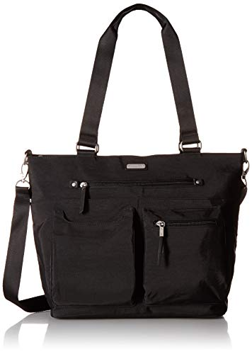 Baggallini Women's New Classic Any Day Tote with RFID Phone Wristlet Black One - Tote New