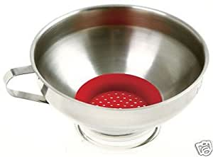 Stainless Steel Wide Mouth Funnel With Strainer