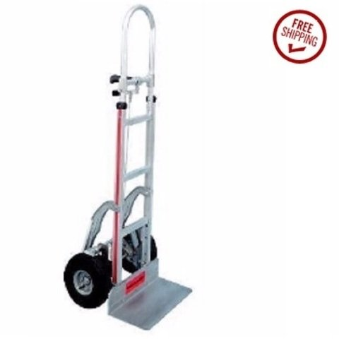Magliner Hand Truck 113C-G2-1060-C5 with Stair Glides, Air Tires Extra Tall
