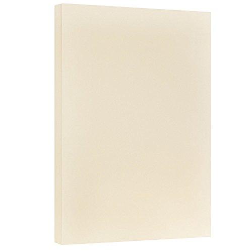 JAM PAPER Vellum Bristol 67lb Cardstock - 11 x 17 Letter Coverstock - Ivory - 50 Sheets/Pack