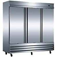 Omcan 50028 81 66.5 CU Stainless Steel Commercial Reach in Cooler Refrigerator
