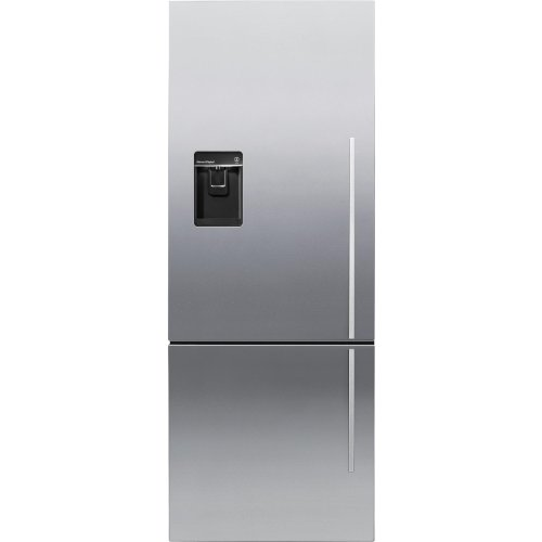 (Fisher Paykel RF135BDLUX4- 13.5 cu. ft. Capacity Left Hinge Counter Depth Bottom Freezer refrigerator In Stainless)