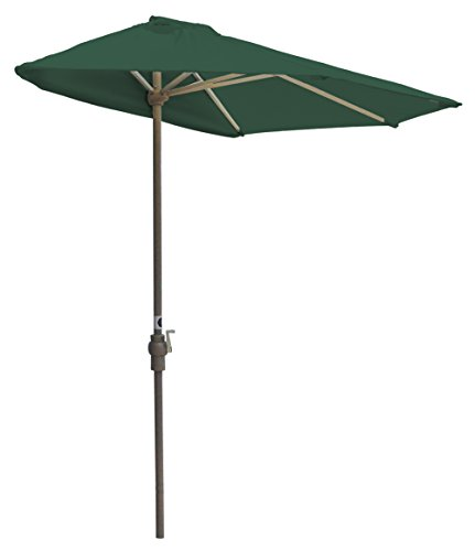 Blue Star Group Off-The-Wall Brella Solarvista Half Umbrella, 9′-Width, Green Review
