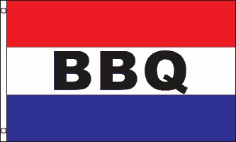 BBQ Flag Barbeque Restaurant Banner Food Tent Business Advertising Pennant 3x5