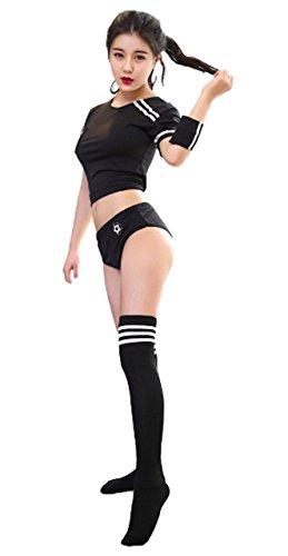 P-LINK Kwaii Cosplay Lolita Cute Cheerleader Costume Sexy Costume Party Sailor Suit Catholic Costumes Schoolgirl Blue Halloween ref Woman refree Shirt referree Cosplay Britney Spears Cheer (Type:B) -