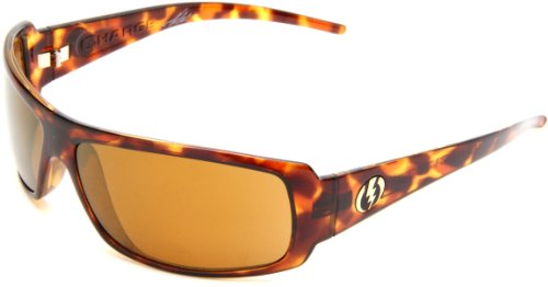 Electric Visual Charge Polarized Wrap Sunglasses,Tortoise Shell Frame/VE Bronze Polar Lens,One - One Sunglasses Polar