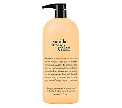 Vanilla Birthday Cake - Philosophy Vanilla Birthday Cake Shampoo, Shower Gel & Bubble Bath: 32 oz.