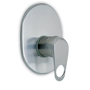 Image of Ambassador Marine Nautilus Collection Shower Mixer, Brushed Nickel Heads