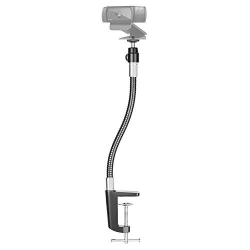 Neewer 13.3 inches/33.8 Centimeters Flexible Jaw Long Arm Swivel Clamp Clip Mount Holder Stand, Gooseneck Mount for Logitech Webcam Brio 4K C925e C922x C922 C930e C930 C920 C615