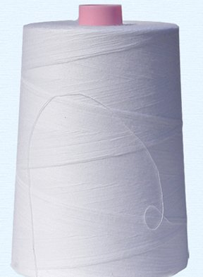 - American & Efird, 100% Cotton Sewing Thread 12,000 Yard Cone- White- Made in USA (1cone/pack)