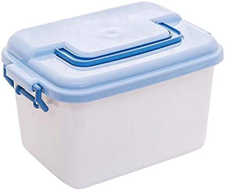 Büro Kunststoff Desktop Aufbewahrungsbox Schubladen Organizer, Blau