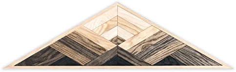 Birch Buffalo Mountain Sun Geometric Wood Wall Art