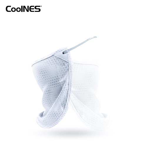 CoolNES | A Removable Universal Fit Headband with Flaps | Neck or Face Mask | Multifunctional Headwear | 4 Season Performance | Skin Protection for Caps | Hats | Bike - Hat Vs Visor Running
