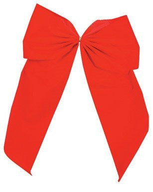 Holiday Trims Extra Large Red Velvet Bow 15'' For Indoor/Outdoor Use by Holiday Trims