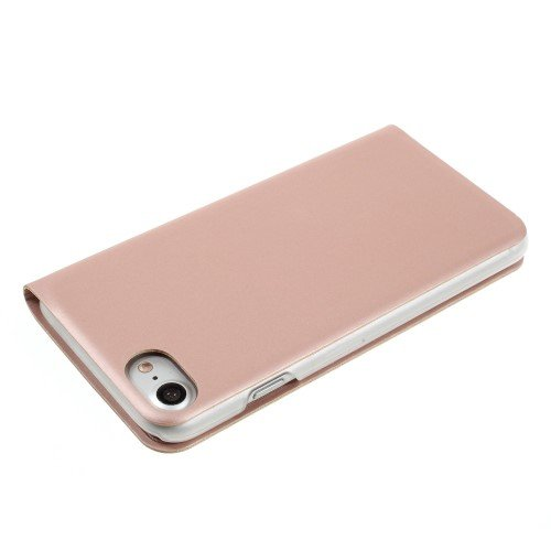 "Apple iPhone 7 4.7"" Handy Tasche Wallet Case Window View Book Etui Klapp Hülle Bag Rose Gold"