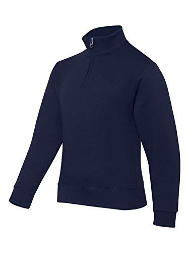 Jerzees boys 8 oz. 50/50 NuBlend Quarter-Zip Cadet Collar Sweatshirt(995Y)-J NAVY-XL (Boys Quarter Zip Sweater)
