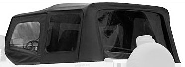 Rampage Jeep 68215 Denim Black Complete Replacement Soft Top with Frame and Hardware