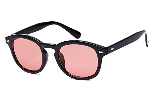Bestum Retro Inspired Sunglasses With Rivets Tinted Lens UV400 (Black, - Men Tinted Sunglasses Red