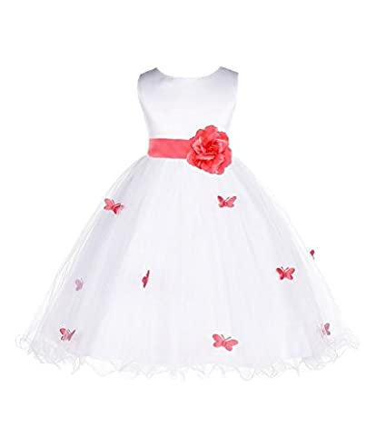 ekidsbridal Butterflies Tulle Flower Girl Dress Christening Dress Birthday Dresses 509T