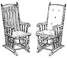 Woodworking Project Paper Plan to Build Glider Chair