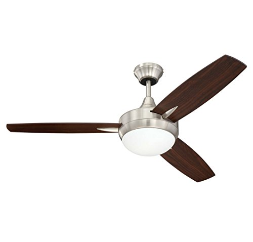 Craftmade Tg48bnk3 Targas 48  Brushed Polished Nickel Ceiling Fan With Led Light   Wall Control