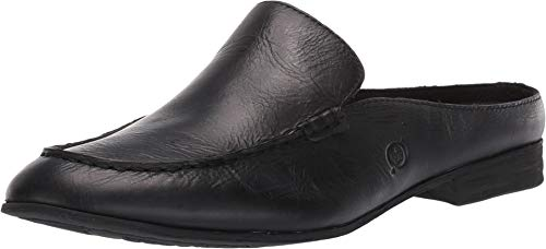 Born Graham Women's Clog/Mule Shoes Black Full Grain Leather (8 M US) (Born Womens Loafers)