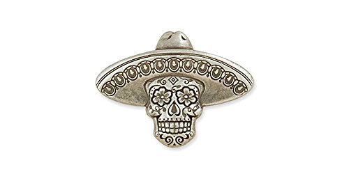 Tandy Leather Sugar Skull Concho Sombrero Nickel Free 71512-03 ()