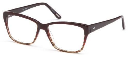 Womens Wayfarer Glasses Frames Wine Prescription Eyeglasses Rxable 54-17-142...